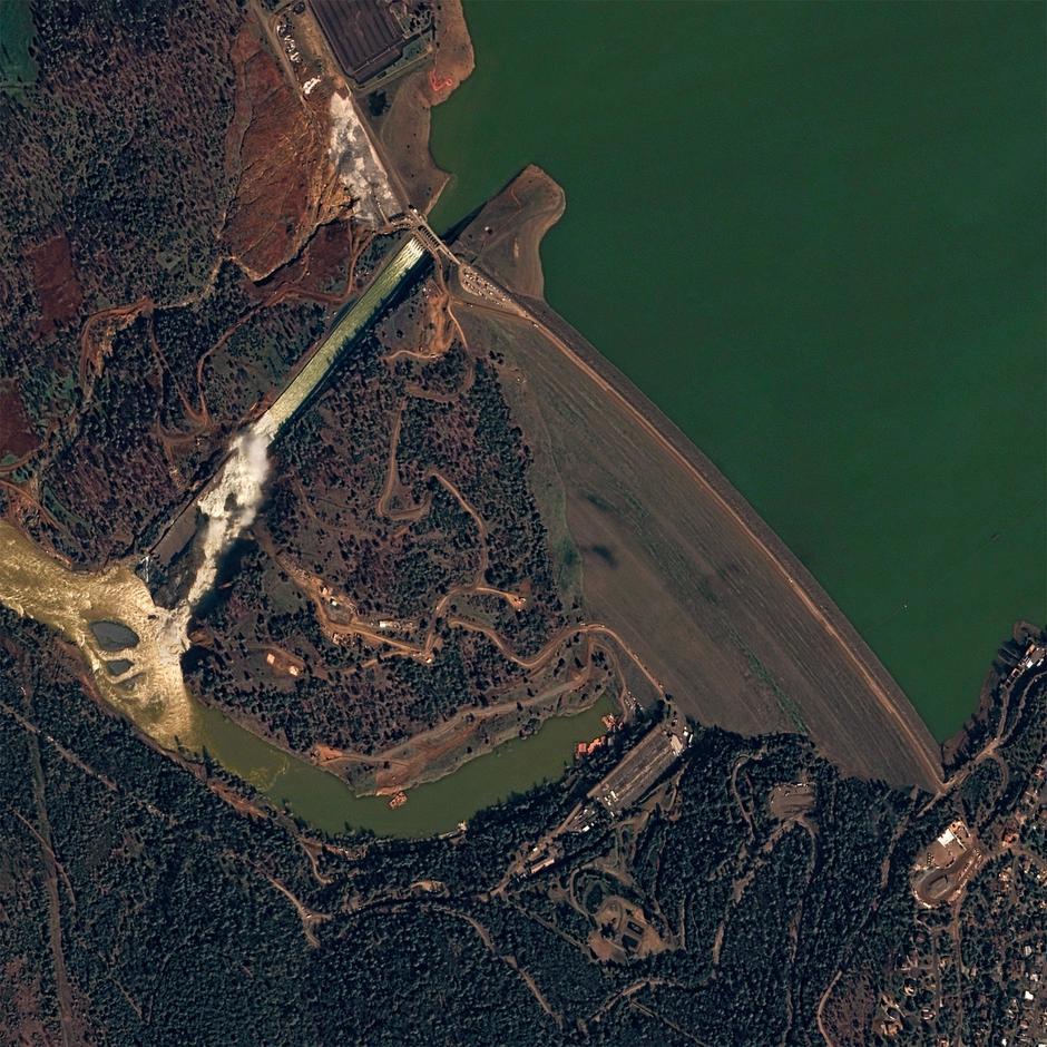 Oroville brana | Author: NASA