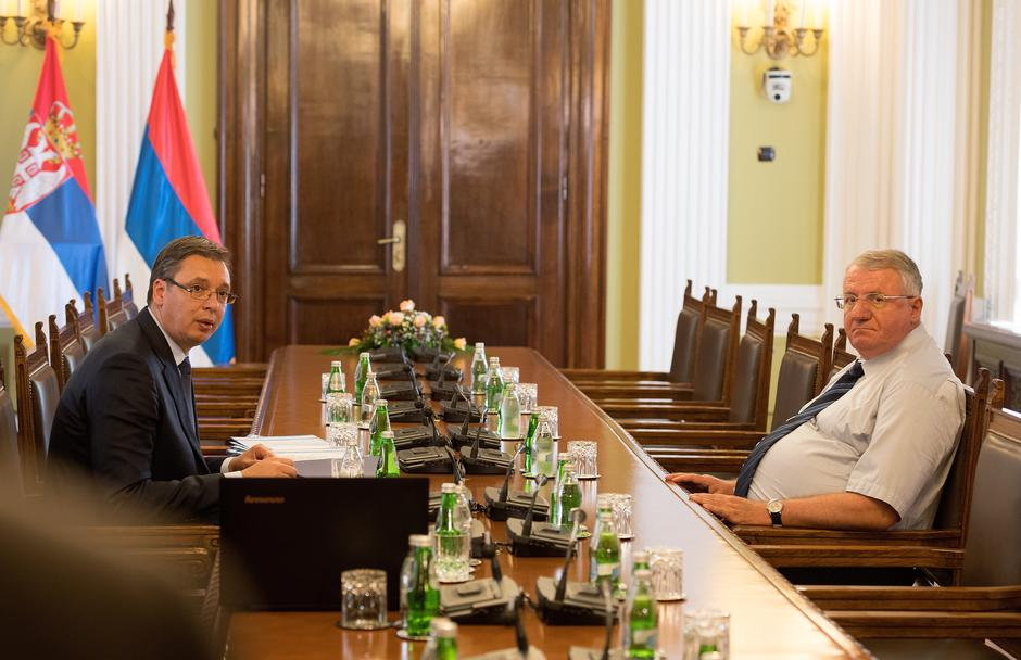 Aleksandar Vučić i Vojislav Šešelj | Author: Srdjan Ilic (PIXSELL)