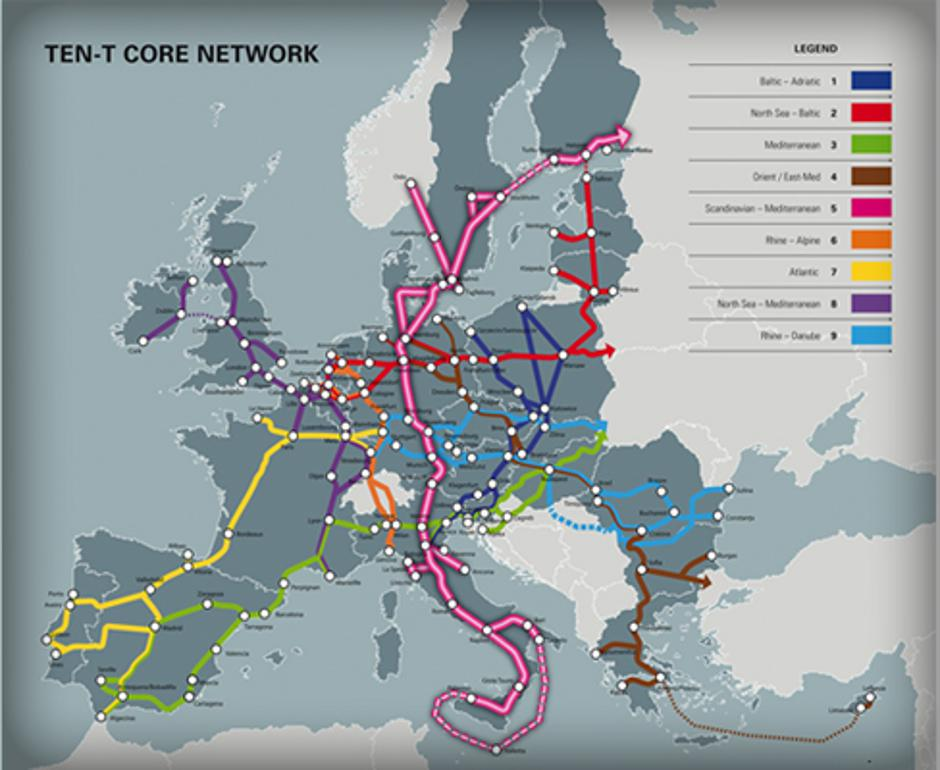 Plan prometne povezanosti Europe | Author: http://www.therobbinscompany.com/brenner-tunnel/