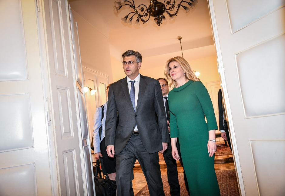 Andrej Plenković i Kolinda Grabar Kitarović | Author: Josip Regovic/PIXSELL