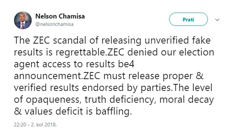 Chamisa Twitter | Author: Screenshot/Twitter