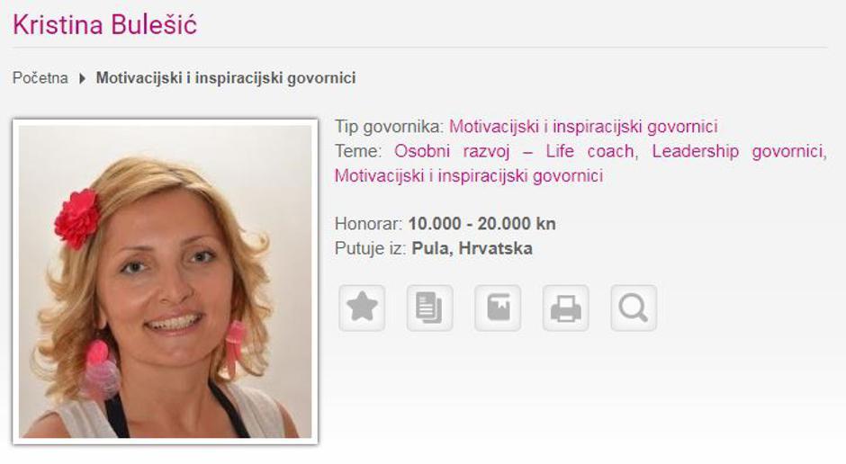 Kristina Bulešić, motivacijska govornica   Author: Screenshot