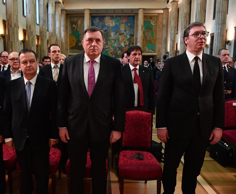 Milorad Dodik s Ivicom Dačićem i Aleksandrom Vučićem | Author: Srđan Ilić/PIXSELL