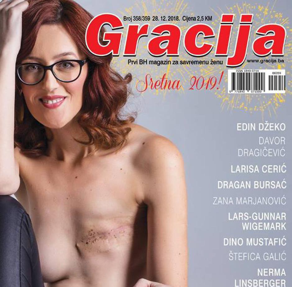 Martina Mlinarević Sopta na naslovnici Gracije | Author: Facebook/Martina Mlinarević Sopta