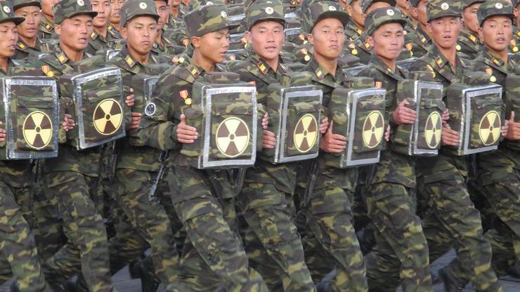 Sjevernokorejska pješadija na paradi