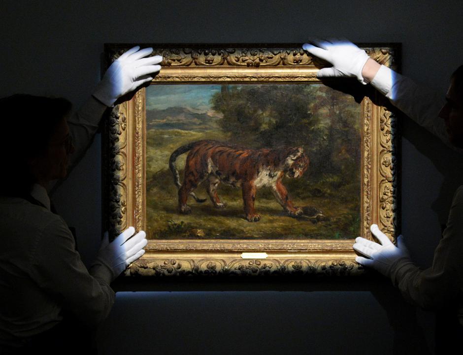 Eugene Delacroix - Tigar se igra s kornjačom | Author: Kirsty O'Connor/Press Association/PIXSELL