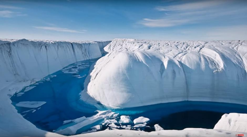 Kanjon nastao u ledu Grenlanda uslijed otapanja | Author: YouTube