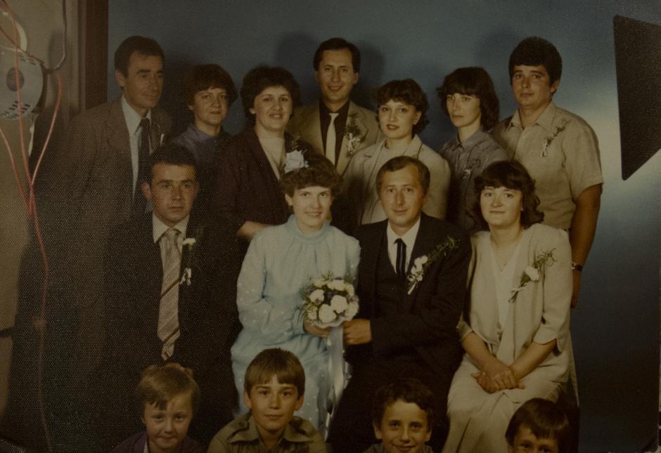 Vjenčanje Špegeljevog sina, krajnje lijevo u srednjem redu je Vladimir Jagar | Author: privatni album