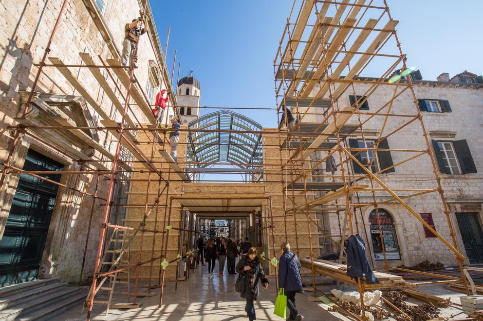 Postavljanje kulisa za film Robin Hood u Dubrovniku | Author: Grgo Jelavic (PIXSELL)