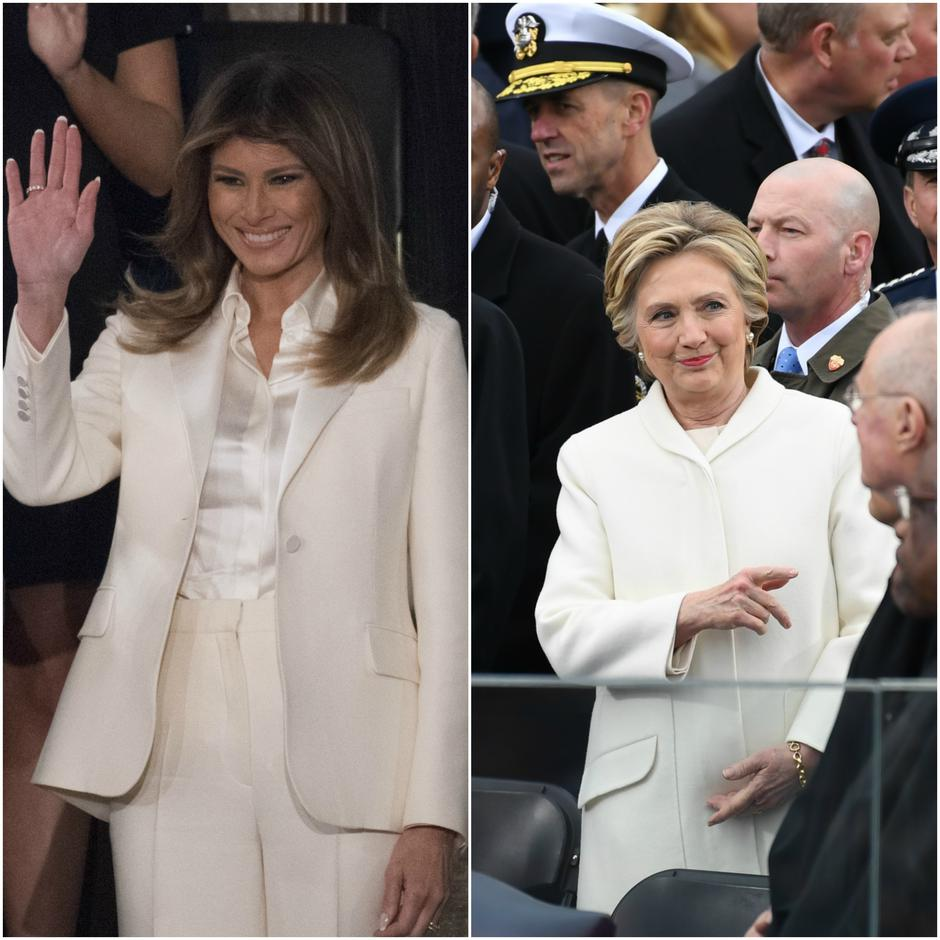Melania Trump i Hillary Clinton u bijelom | Author: Douliery Olivier/Press Association/PIXSELL i Pat Benic/DPA/PIXSELL