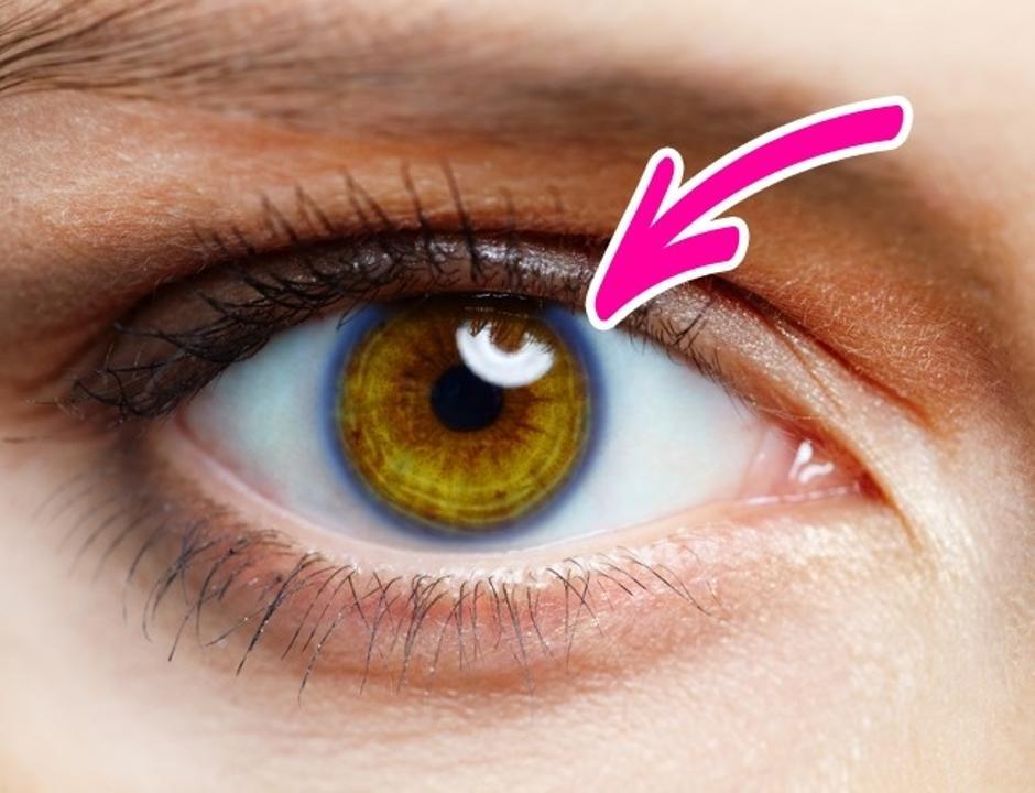 Ilustracija oka s prstenom oko šarenice | Author: brightside.me